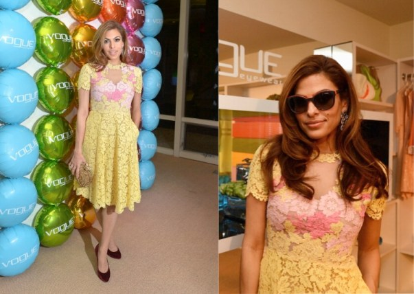 Eva Mendes in Valentino at VOGUE eyewear Summer launch