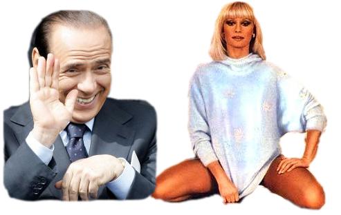 Silvio Berlusconi + Rafaella Carrà