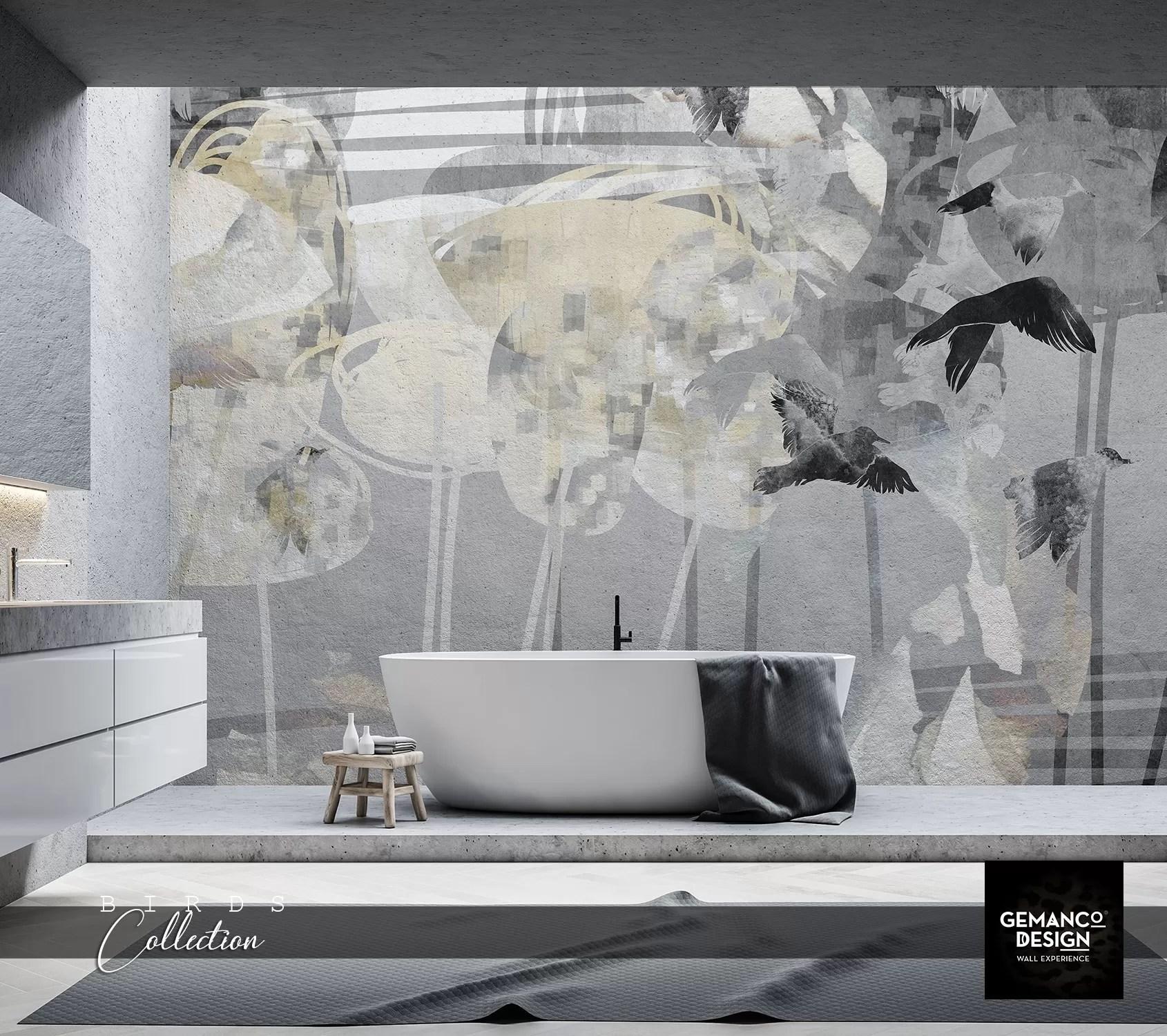 Per decorare le pareti di questo bagno sui toni del verde). Carta Da Parati Moderna Come Usarla Per Decorare La Camera Da Letto