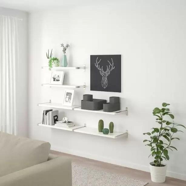 Idee, foto e consigli per disporre ripiani, scaffali, rettangoli e cubi sospesi nella. Mensole Ikea A Staffe Semplici E Moderne Le Idee Piu Belle E Pratiche