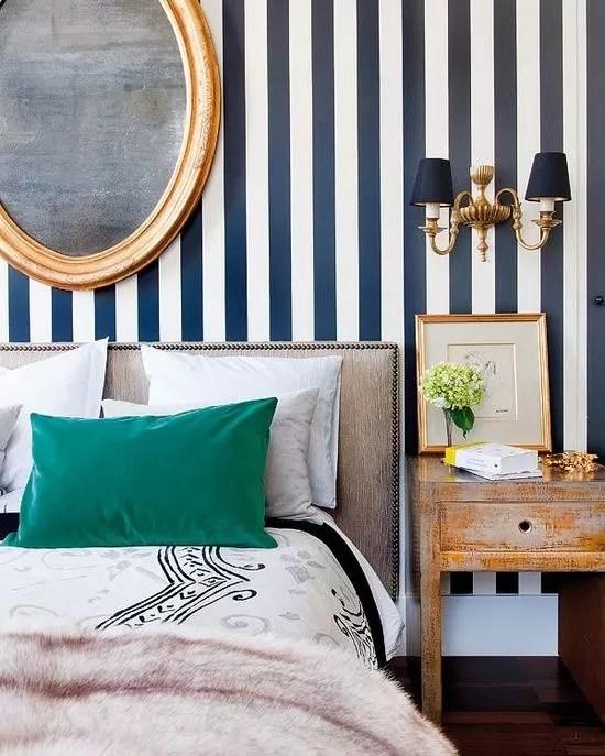 Decorare una parete con le righe verticali o orizzontali può dare un. Pareti A Righe Le Migliori Idee E Ispirazioni Per Decorare Casa