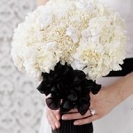 bouquet bianco e nero Glam Events 1