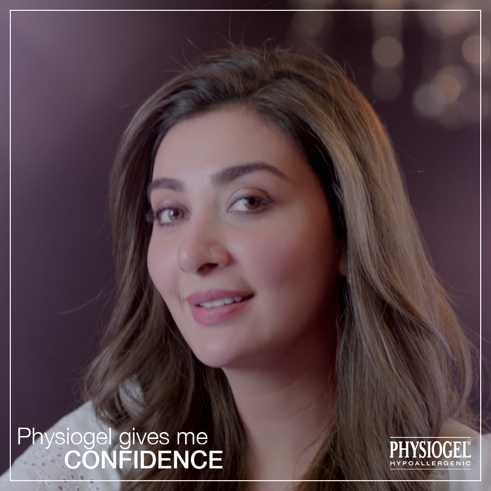 Aisha Khan An Epitome Of Confidence In The New Physiogel Confident Digital Campaign
