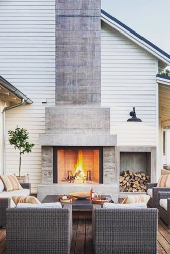 30 Amazing Outdoor Fireplace Ideas on Amazing Outdoor Fireplaces  id=75097