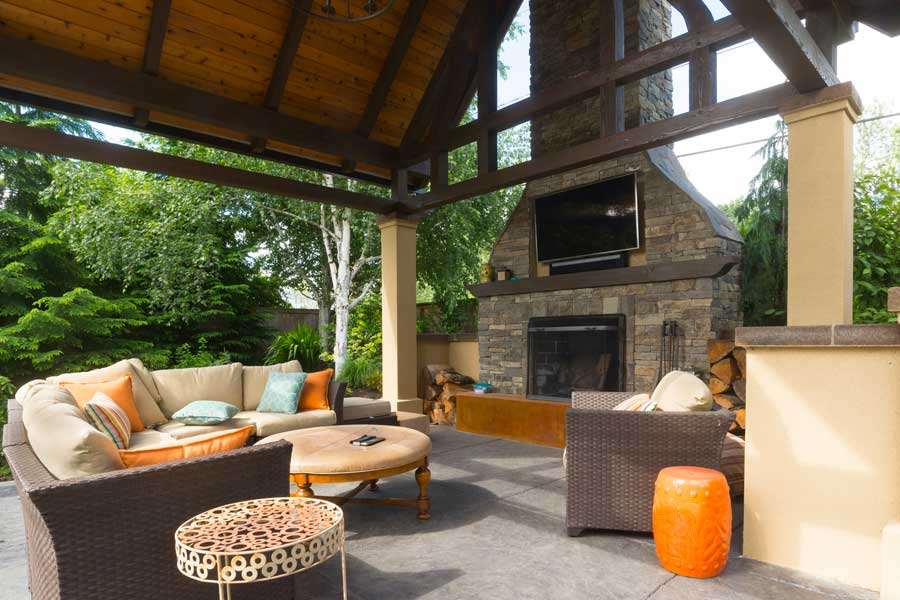 30 Amazing Outdoor Fireplace Ideas on Amazing Outdoor Fireplaces  id=36681