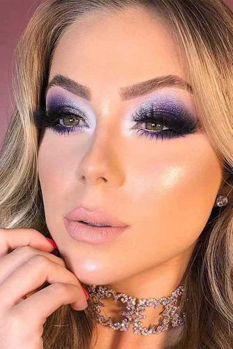 Purple Smokey Eyes Makeup #purplesmokey
