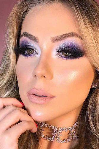 Purple Smokey Eyes Makeup #purplesmokey