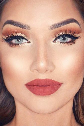 Glitter Rose Gold Makeup Ideas picture 2