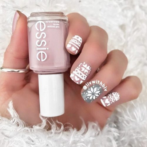 Christmas Nail Art Designs with Themed Ornaments