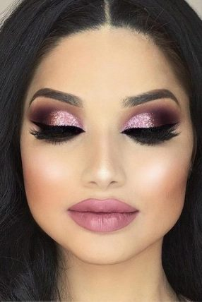 Glitter smokey eyes are great for dreamy makeup looks!
