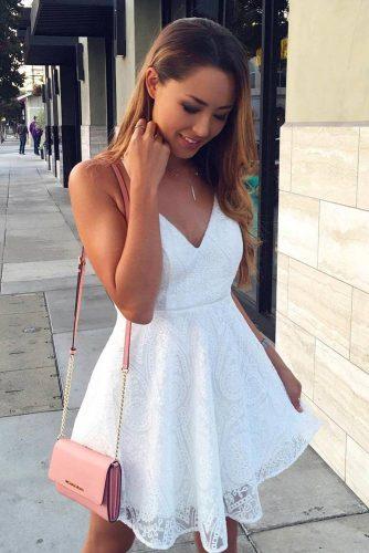 White and Black Graduation Dress Designs