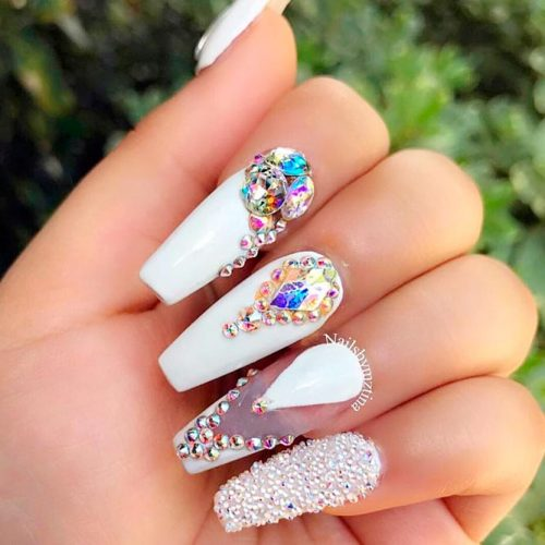 White Coffin Nails Designs For Any Occasion Crazyforus