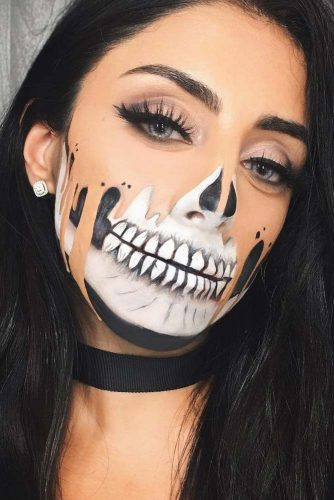 Halloween Make Up Skelet.Cool Skeleton Makeup Ideas To Wear This Halloween Crazyforus