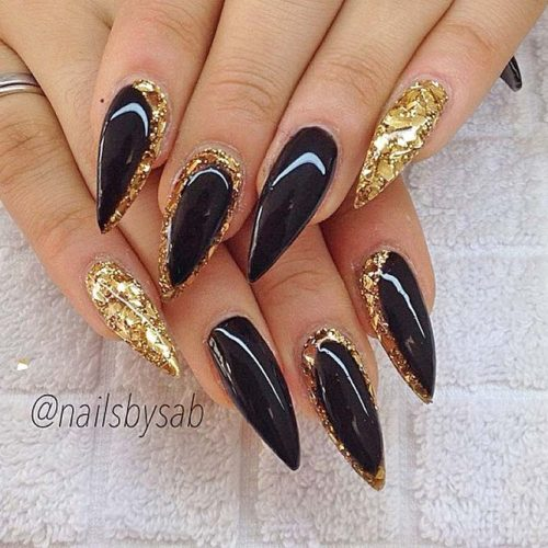 Newest Black Glitter Nails Ideas picture 2