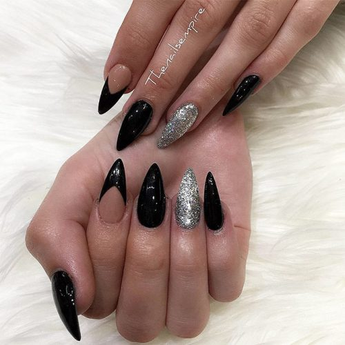 Newest Black Glitter Nails Ideas Picture 6