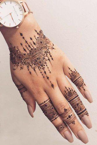 Arm Tattoo Design Made With Henna #armtattoo