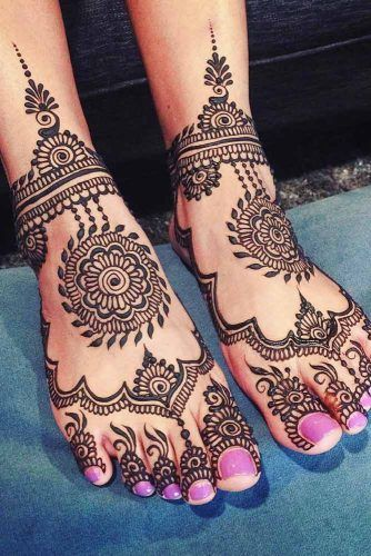 Feet Henna Tattoo Design #feethennatattoo