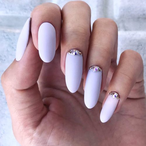 Long Oval Nail Design #longnails