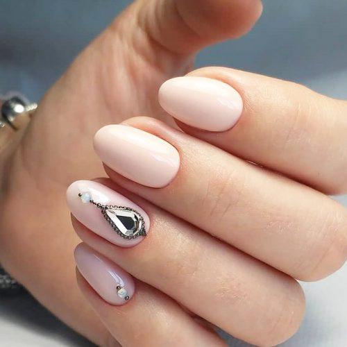 Simple Oval Nail Design #shortnails