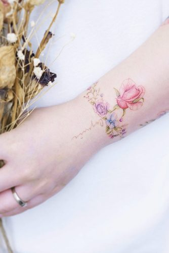 Floral Bracelet Wrist Tattoo Designs: DELICATE WRIST TATTOOS FOR YOUR UPCOMING INK SESSION