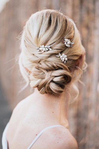 Elegant Blonde Twisted Updo With A Hair Accessory #blondehair #twistedupdo
