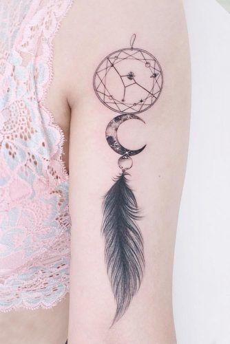 Dream Catcher Feather Tattoo