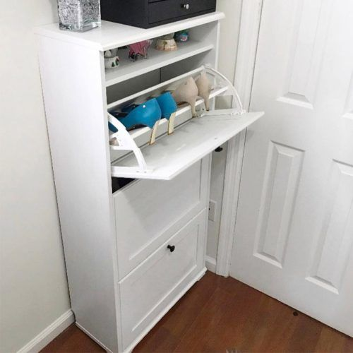 White Shoes Cabinet #whitecabinet