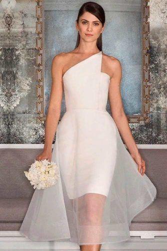 One Shoulder Satin Dress #satindress #modernweddingdress