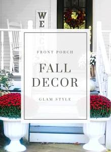 Already have pillows and blankets on your porch? Time to trade those summery ones out for ones that feel more fall-like.
