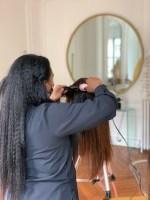 nana lisse des cheveux