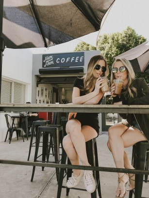 sipping our coffee