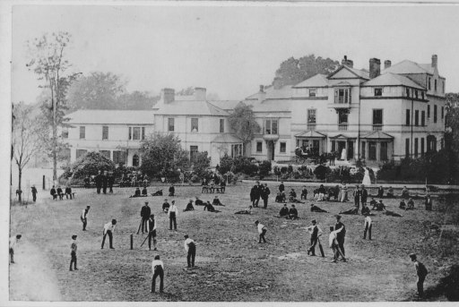 Cricket at Grove Park School, Wrexham in 1868