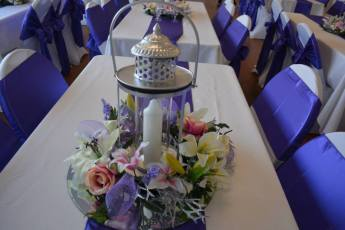 Purple and pink Lantern decor 4
