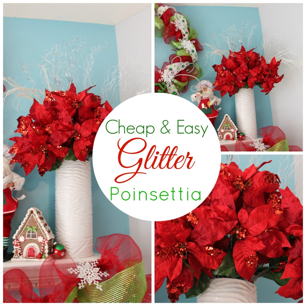 Easy Glitter Poinsettia Tutorial