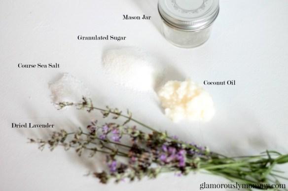 DIY Lavender body Scrub ingredents