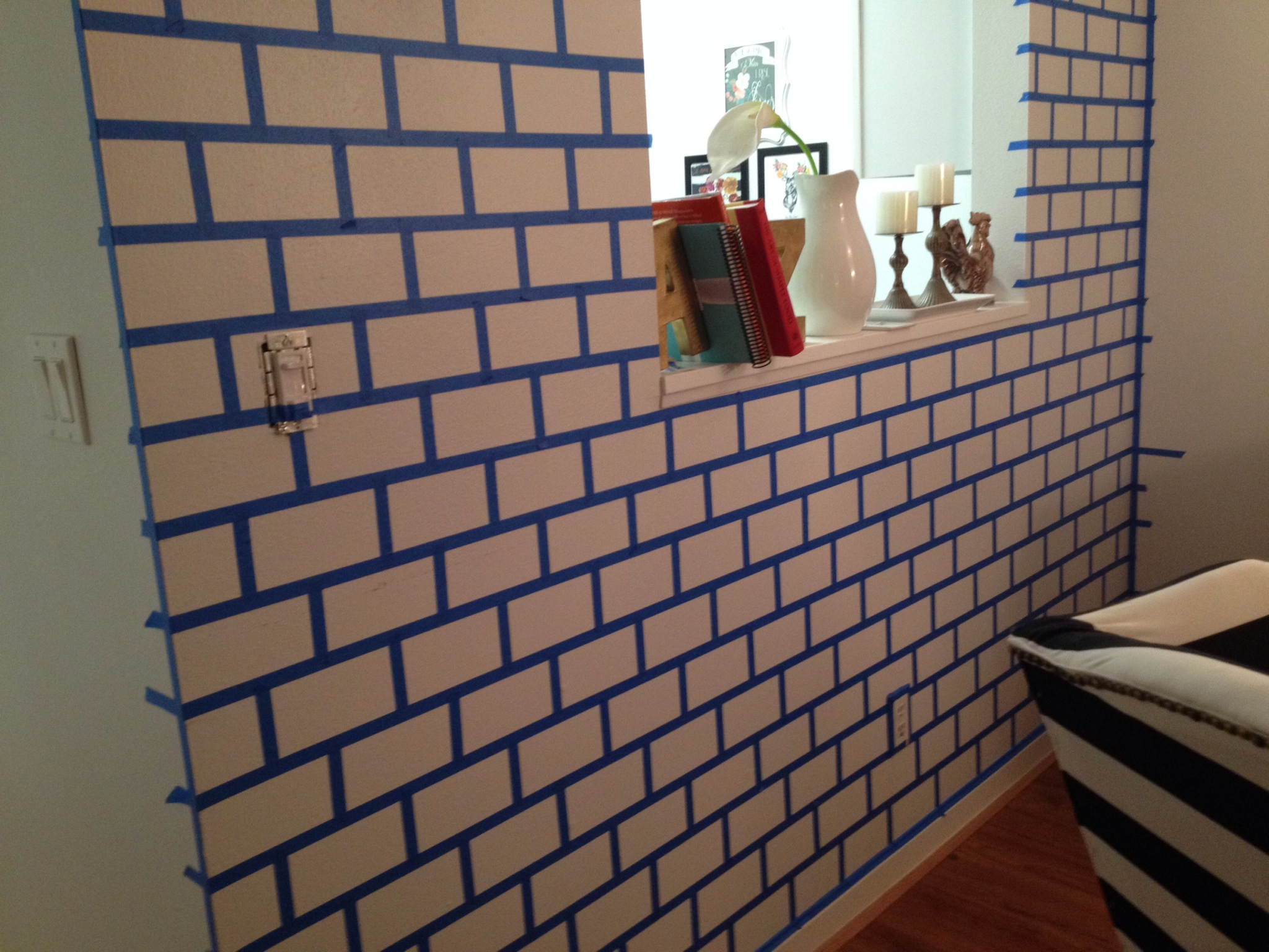 DIY Painted Brick Wall - The Glamorous Project on Brick Painting Ideas  id=70457