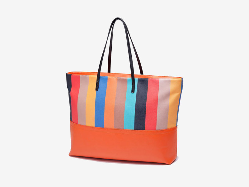 Multicolour Series Color Stripe Shoulder Bag
