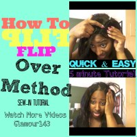 How To Do A Full Sew-In With Invisible Part Using Flip Over Method