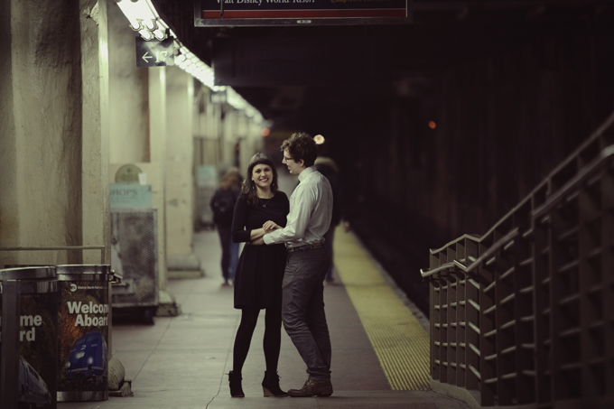A Modern NYC Subway Engagement Glamour Amp Grace