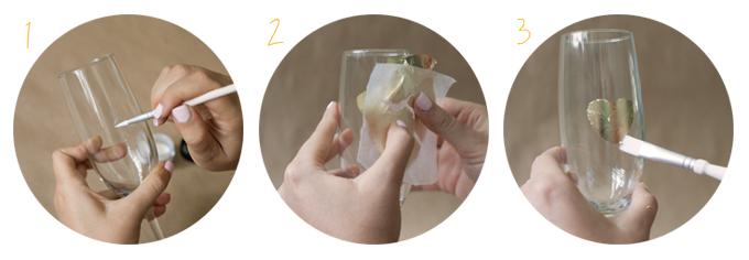 gold leaf flutes steps | Glamour & Grace