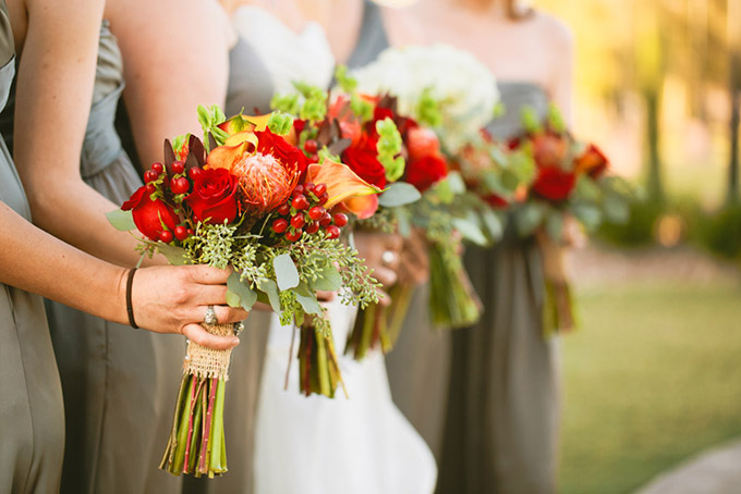 red fall wedding | Luke and Cat Photography