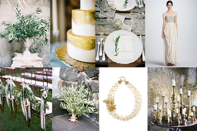 olive and gold wedding inspiration | Glamour & Grace