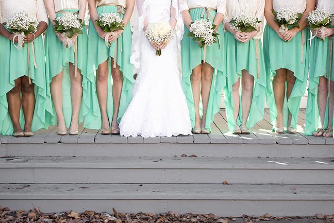 mint bridesmaid dresses | Ashley Upchurch Photography