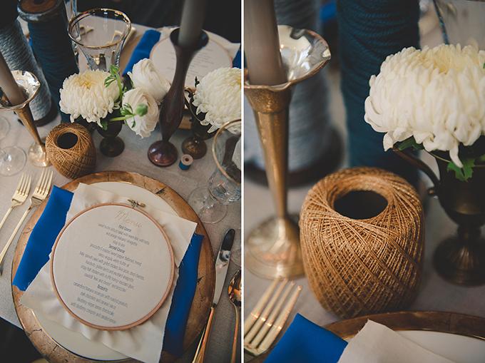 handmade blue and gold wedding inspiration | Bit of Ivory Photography