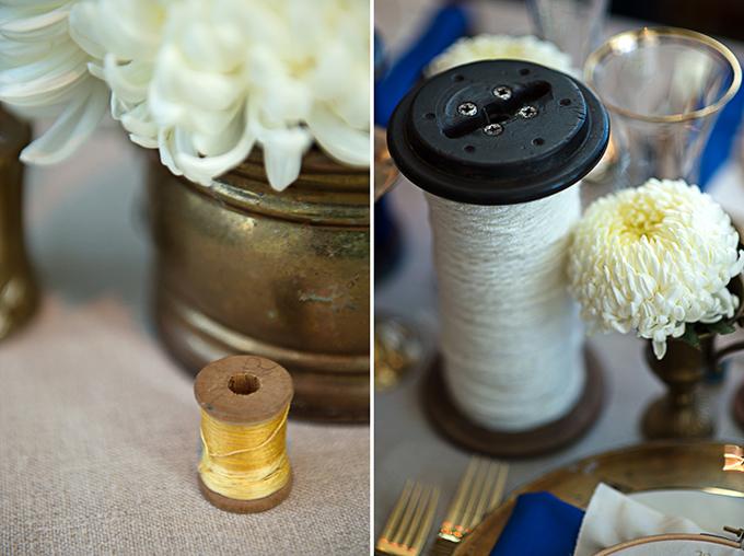 handmade blue and gold wedding inspiration | Severine Photography