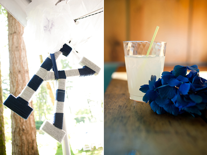 blue and yellow DIY wedding | Christa-Taylor