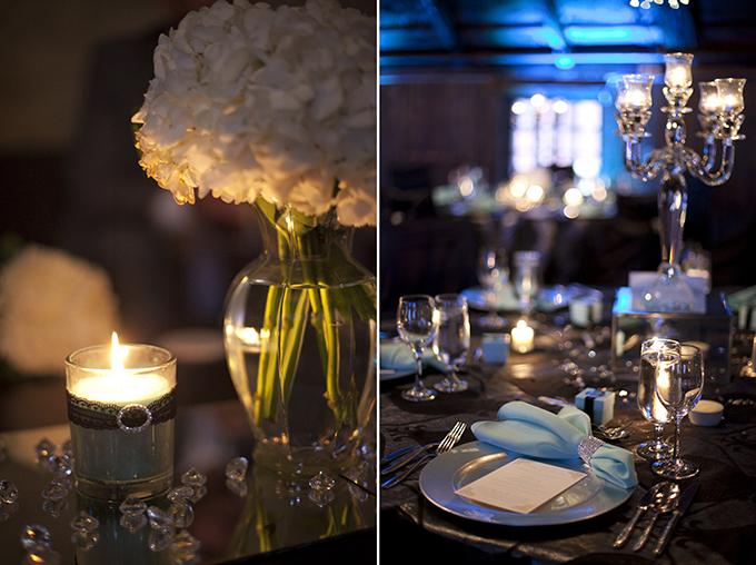 glam black & white wedding | Christina Esteban and Jeremy Bobrow