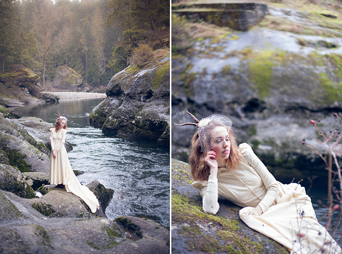 quirky vintage bridal session   Chelsea Dawn Photography