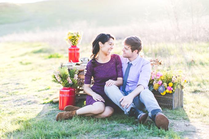 eco chic engagement | Maritha Mae Photography