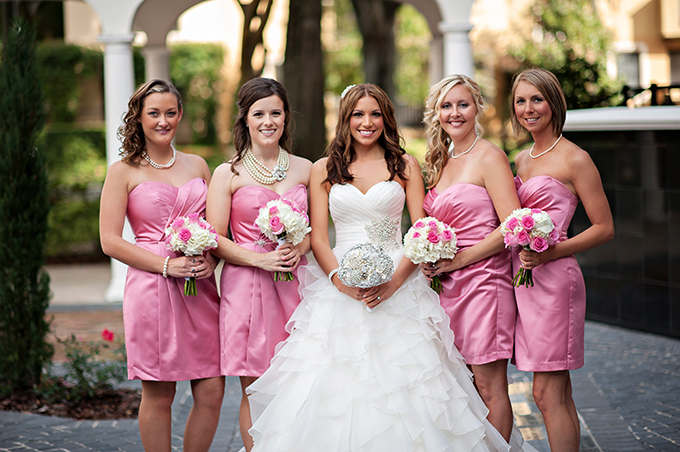 glam metallic and blush wedding | Kristen Weaver Photography